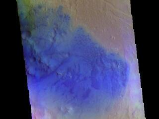 Peridier Crater - False Color