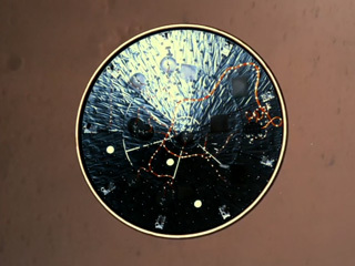 MEDLI2 Visible on Mars 2020 Heat Shield