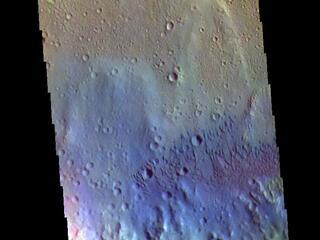 Tyrrhena Terra Crater - False Color