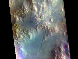 Holden Crater Rim - False Color