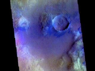 Noachis Terra Crater - False Color