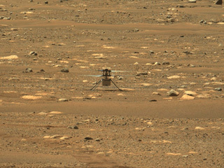 Ingenuity's First Flight Recorded by Mastcam-Z