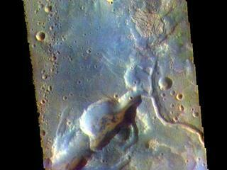 Arabia Terra Channels - False Color