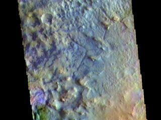 Baldet Crater - False Color