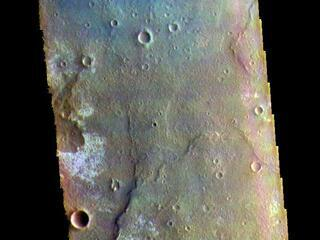 Tyrrhena Terra - False Color