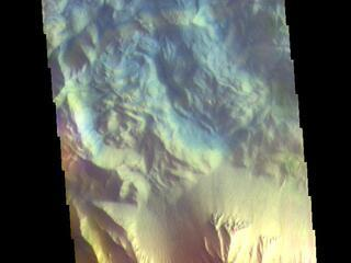 Hebes Chasma - False Color