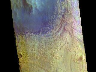 Becquerel Crater - False Color