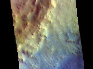 Toro Crater Rim - False Color