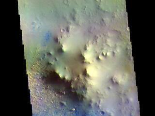 Terra Sabaea Crater - False Color