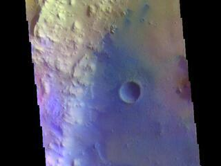 Tombaugh Crater - False Color