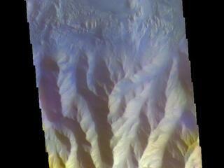 Hebes Chasma - False Color