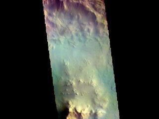 Isil Crater - False Color