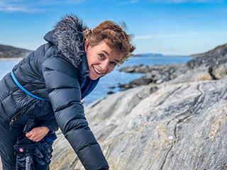 Abigail Allwood in Greenland