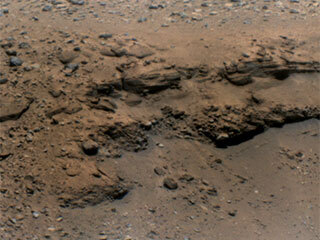 Mars' 'Delta Scarp' From More Than a Mile Away