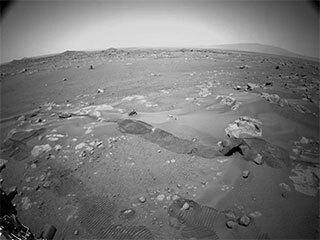 Perseverance Rover Camera View of Long Autonomous Drive