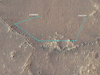 Ingenuity Flight 10 Ground Track