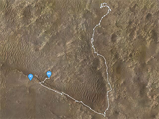 View image for 'Where is Perseverance?' Location Map