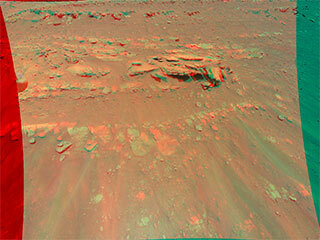 View image for Mars Mound From Ingenuity Helicopter's Perspective in 3D