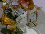 Preparations of the 2001 Mars Oddysey at Kennedy Space Center